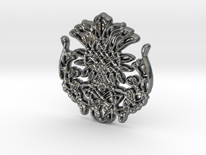 Scottish Thistle in Polished Silver