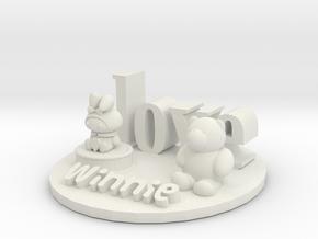 Kitty and Winnie cake in White Natural Versatile Plastic