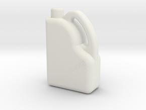 Modern Oil Bottle / Can in White Natural Versatile Plastic