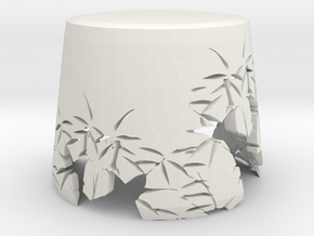 Bamboo Lampshade in White Natural Versatile Plastic