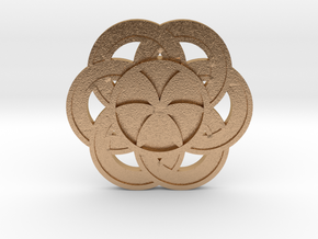 Crop circle Pendant 3 Flower of life colored in Natural Bronze