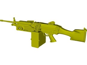 1/9 scale FN Fabrique Nationale M-249 Minimi x 1 in Smooth Fine Detail Plastic