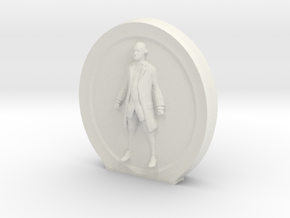 Cosmiton M George Washington - 65 mm in White Natural Versatile Plastic