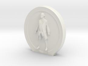 Cosmiton Fashion M - George Washington - 65 mm in White Natural Versatile Plastic