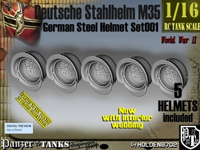 1/16 Stahlhelm M35 Set001 in Smooth Fine Detail Plastic