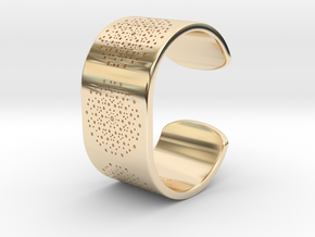 Quasicrystals Diffraction Pattern Bracelet in 14K Yellow Gold