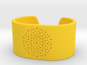 Quasicrystals Diffraction Pattern Bracelet - simpl in Yellow Processed Versatile Plastic