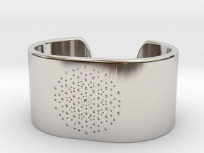 Quasicrystals Diffraction Pattern Bracelet - simpl in Rhodium Plated Brass