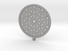Quasicrystals Diffraction Pattern Pendant in Aluminum