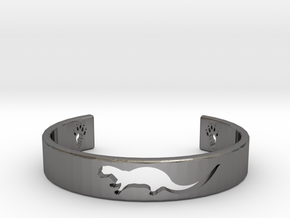 Otter Bracelet in Polished Nickel Steel: Medium