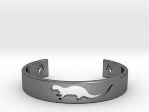 Otter Bracelet in Polished Nickel Steel: Medium