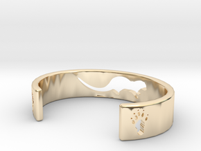 Otter Bracelet in 14k Gold Plated Brass: Extra Small