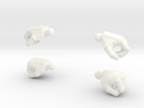 Armored Hands in White Processed Versatile Plastic