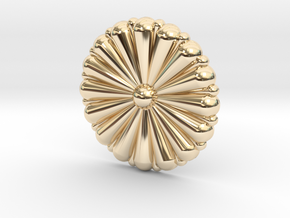 1/96 IJN Gold Chrysanthemum in 14K Yellow Gold