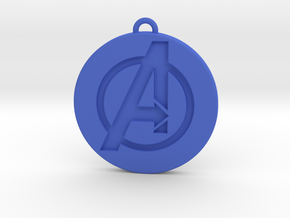 Keychain - Necklace - Avengers in Blue Processed Versatile Plastic