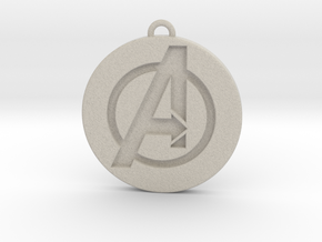 Keychain - Necklace - Avengers in Natural Sandstone