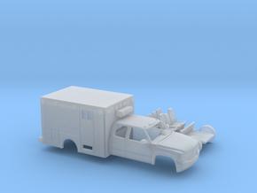 1/87 1999-02 Chevy Silverado  EXTCab Ambulance Kit in Smooth Fine Detail Plastic