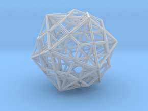 Great Dodecahedron / Dodecahedron Compound in Smooth Fine Detail Plastic