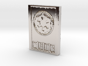 Star wars Sabacc Imperial credit chip in Rhodium Plated Brass