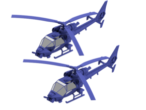 035C Modified Gazelle Pair 1/144 in Smooth Fine Detail Plastic