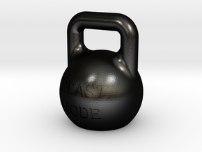 beast mode 200gram kettlebell in Matte Black Steel