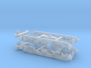 NS 1500 and EM2 Bogies N Gauge (1/148 and 1/160) in Smooth Fine Detail Plastic: 1:148