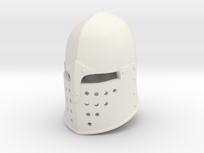 Sugar Loaf Helm (Full) in White Natural Versatile Plastic: Small