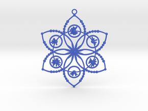 Crop circle pendant 2 (Plastic , Precious Metal ) in Blue Processed Versatile Plastic