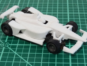HO 2018 Oval Indy Car in White Processed Versatile Plastic