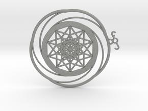 Crop circle Pendant 5 in Gray PA12