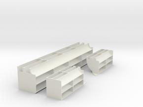 1/6 M5 Stuart Exhaust Deflectors Set001 in White Natural Versatile Plastic