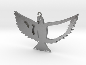 Bird in Natural Silver