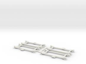 8 Barres de liaison pour aiguilles BS (4 Appareils in White Natural Versatile Plastic