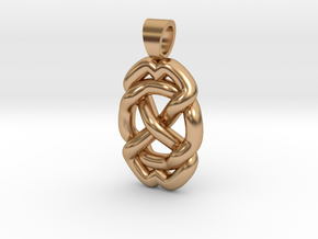 Celtic knot circle in Polished Bronze