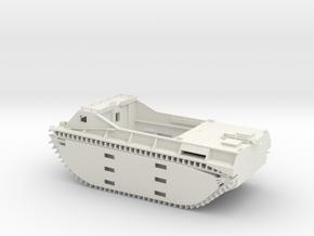 1/56 LVT-1 Amtrac in White Natural Versatile Plastic