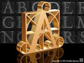A - DURER (100%)  in Polished Gold Steel