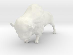 N Scale Bison in White Premium Versatile Plastic