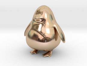 Punge the Penguin in 14k Rose Gold Plated Brass
