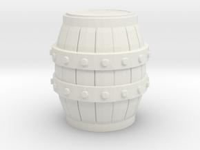G Scale Barrel in White Natural Versatile Plastic