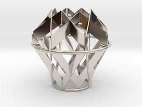 Fragmented light in Rhodium Plated Brass