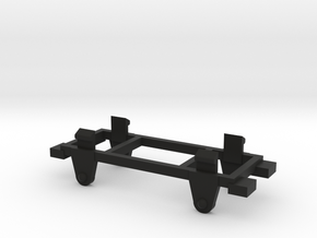 009 Free-Wheeler Chassis  in Black Natural Versatile Plastic