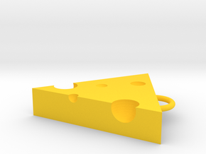 Cheese necklace in Yellow Processed Versatile Plastic: Small