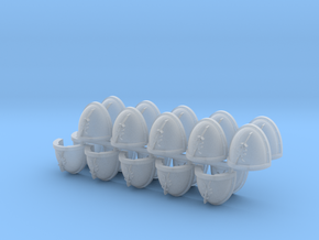 Commission 41 Mk7/8 Shoulder Pads x20 in Smooth Fine Detail Plastic