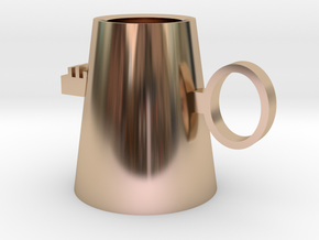 Key mug in 14k Rose Gold Plated Brass