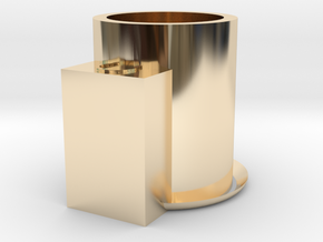candle holder in 14k Gold Plated Brass
