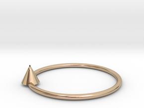 Pyramid earrings in 14k Rose Gold