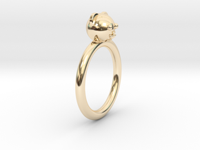 Bear Head Ring in 14K Yellow Gold