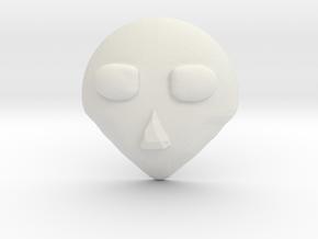 FaceEmblem1 in White Natural Versatile Plastic