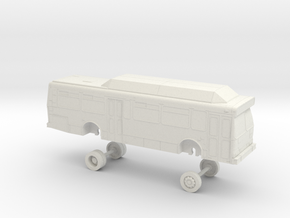 HO Scale Bus Orion V GET 9900s in White Natural Versatile Plastic