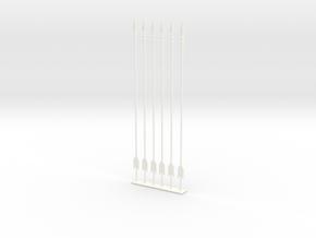 arrow set 2 long in White Processed Versatile Plastic